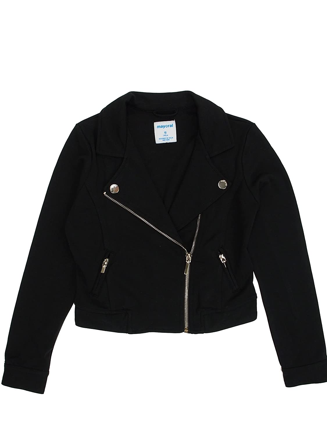Black 6410 Mayoral Jacket for Girls