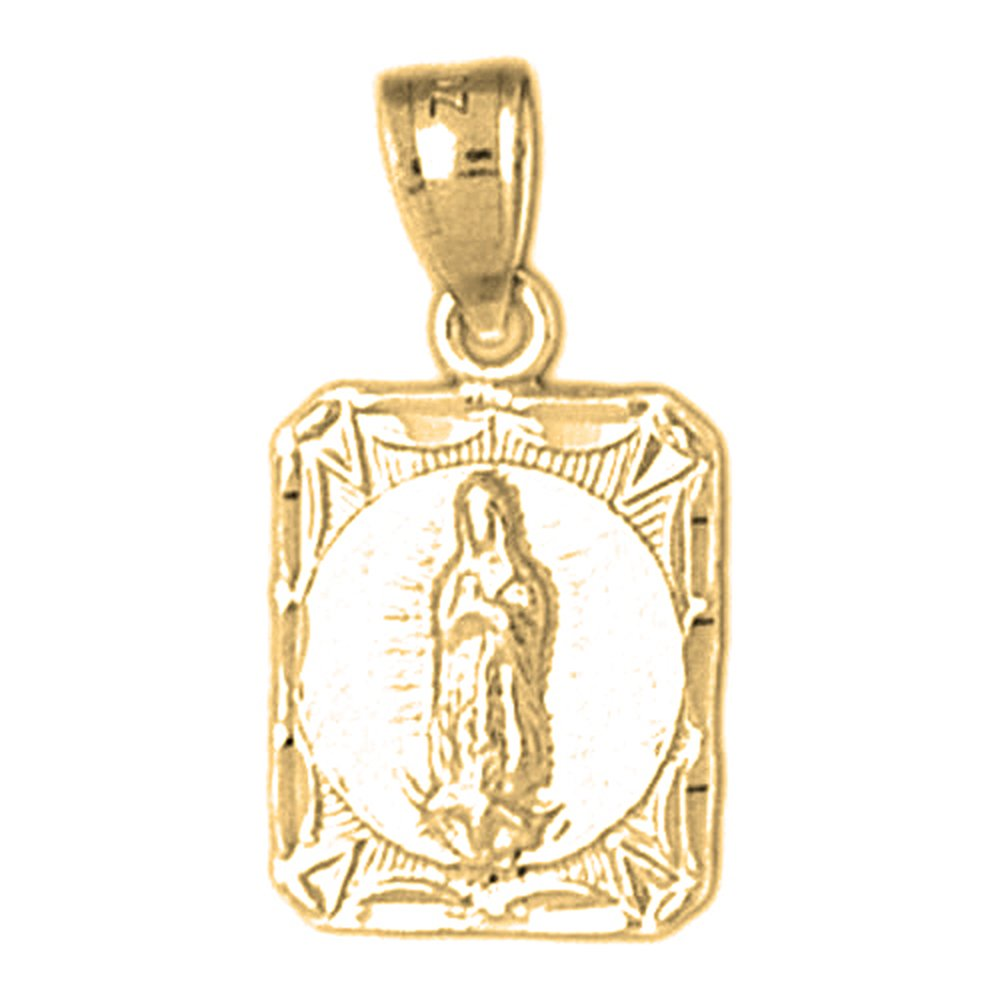 14K Yellow Gold-plated 925 Silver Our Lady Guadalupe Pendant with 16 Necklace Jewels Obsession Our Lady Guadalupe Necklace