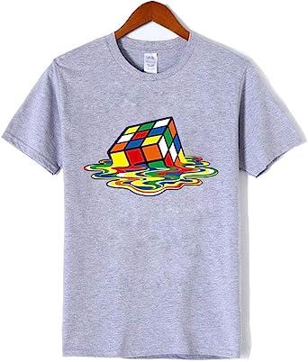 LKTDM Moda Camiseta Hombres Cuadrados mágicos Camisetas de diseño Manga Corta Hombres Camisetas Algodón Hombres Ropa Harajuku Camiseta Divertida, S: Amazon.es: Ropa y accesorios