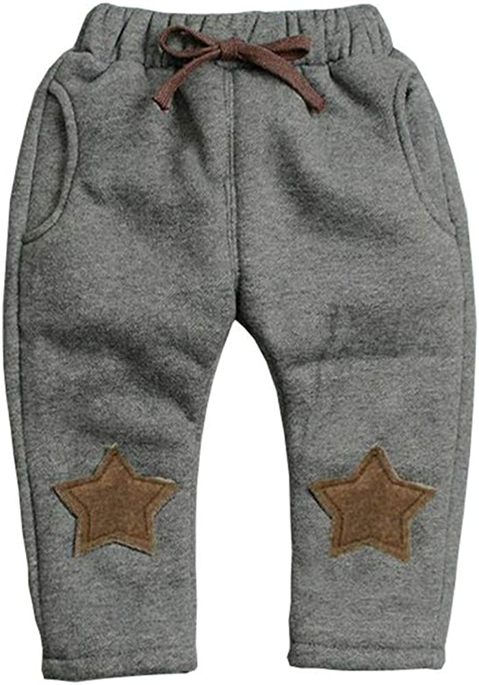 Colorfulhome Boys Pants Winter Kids Thicken Pants Children boy Casual Warm Cashmere Velvet