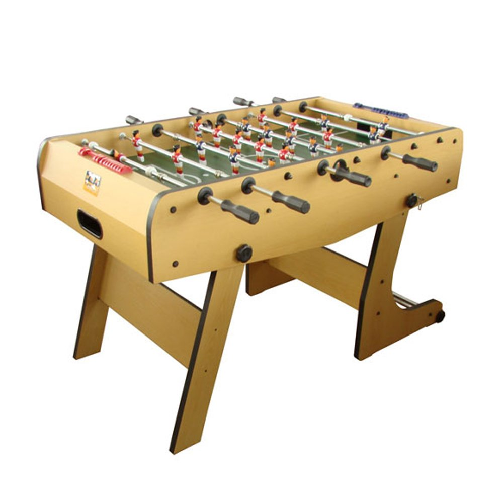 René Pierre Winjoy Folding Foosball Table with Safety Telescoping Rods with Ergonomic Handles and 2 Single Goalies
