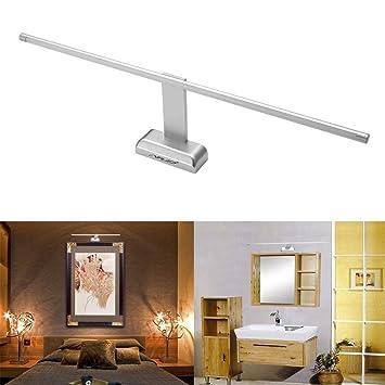 FVTLED 9W 48 LED 2835 SMD Lámpara de Pared para Baño Espejo Aplique Luz Acero Inoxidable(Blanca Frío): Amazon.es: Hogar