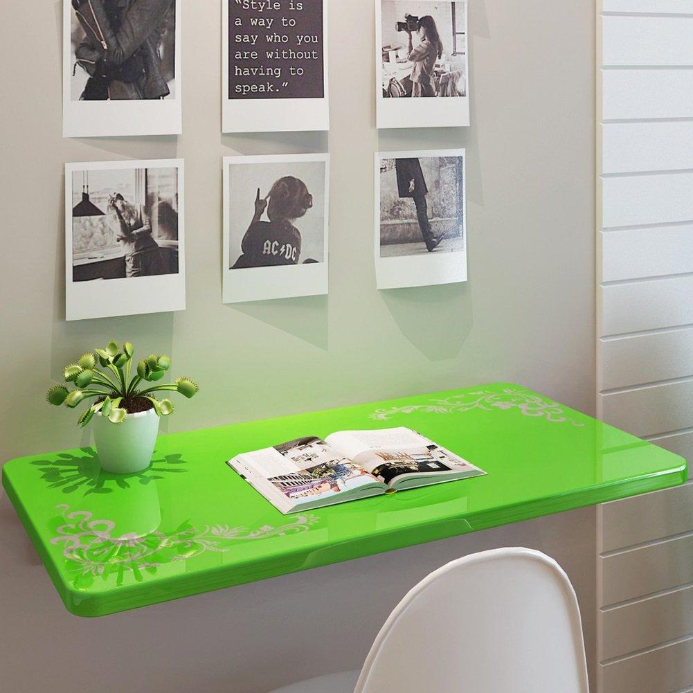 ZJM ウォールテーブル壁掛けドロップリーフテーブル折りたたみキッチンダイニングテーブルデスクグリーンフラワー ( サイズ さいず : 70*50cm ) B0793LWMZM 70*50cm 70*50cm