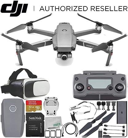 bf9b3106783 Amazon.com : DJI Mavic 2 Zoom Drone Quadcopter with 24-48mm Optical Zoom  Camera Virtual Reality Experience VR Starter Bundle : Electronics