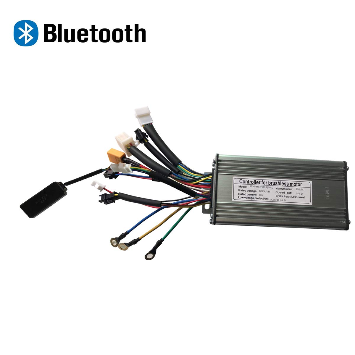 LOLTRA E-Bike Controller with Bluetooth Function 48V 9 Mosfet KT Sine Wave Controller
