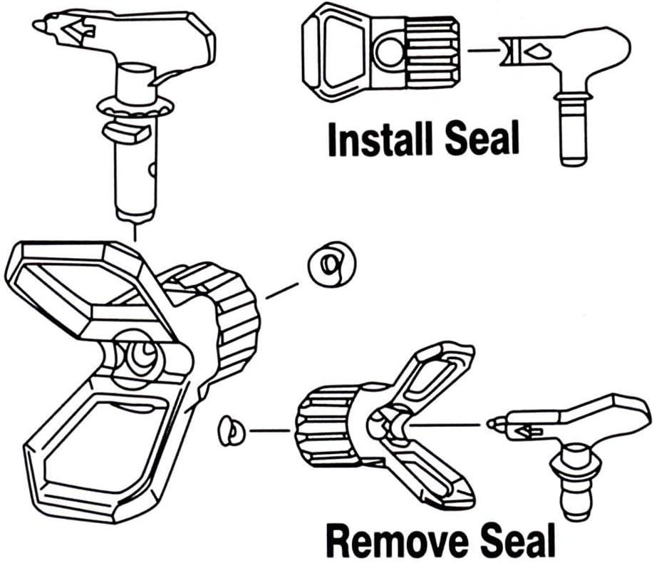 Airless Spray Gun Tips Nozzle For Titan Wagner Paint Sprayer Tool 211-517