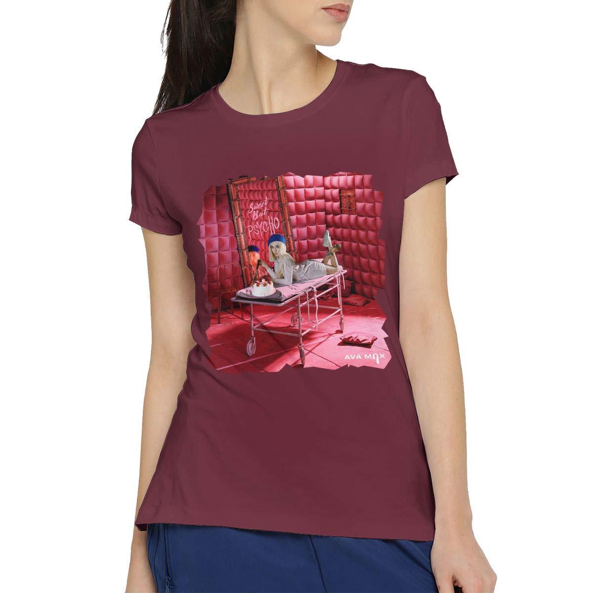 Chunt Ava Max Sweet But Psycho Short Sleeve S Burgundy 4903 Shirts