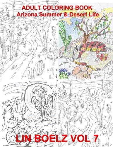 Download Adult Coloring book Arizona Summer & Desert Life (Volume 7) PDF