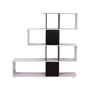 homcom Libreria di Design in Legno 124.5×30×144cm Mobili Ufficio ...