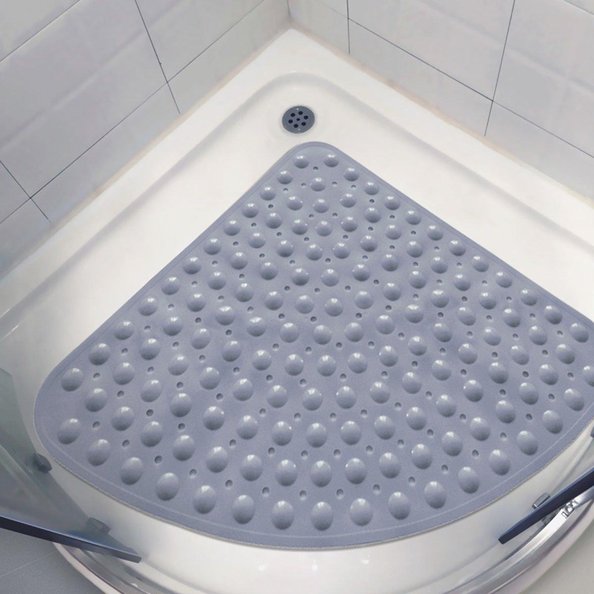 grigio Tappetino per vasca antiscivolo 54x54CM Tappetino per doccia angolare Sector Tappetino per vasca antiscivolo antiscivolo