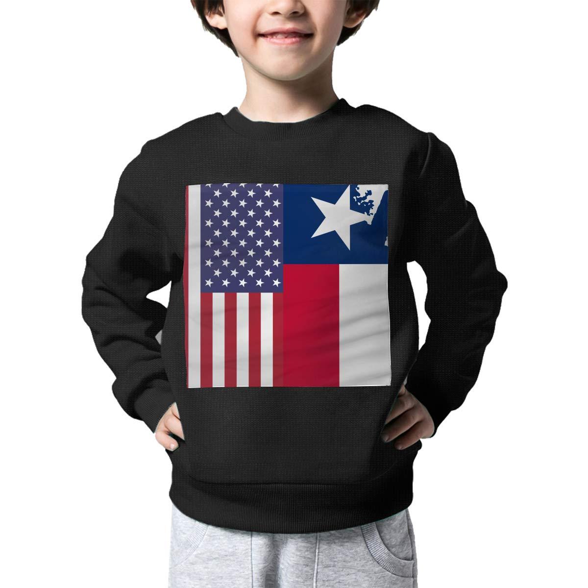 NJKM5MJ Boys Girls American Texas Flag Lovely Sweaters Soft Warm Childrens Sweater