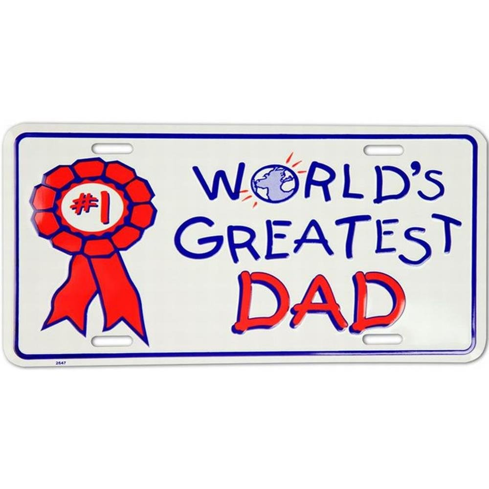 Signs 4 Fun SL2647 Greatest Dad License Plate