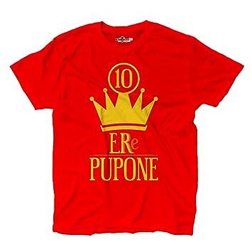 Camiseta camiseta fútbol Roma Totti Capitán pupone Leyenda Re 10 futbolista 1, Scarlet Red