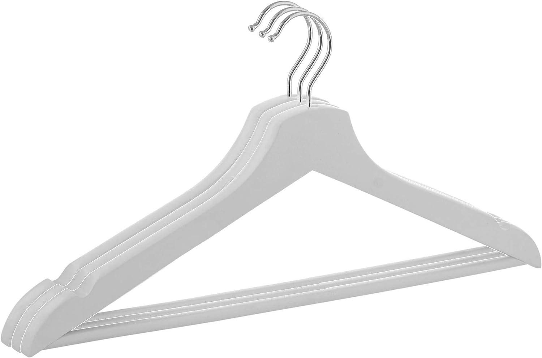Burgundrot SPRINGOS Kleiderb/ügel Holz Kleiderschrank 3 St/ück 43 cm Burgundrot Kollektion Haken drehbar Rockkerben Hosensteg Garderobe Hemdenb/ügel