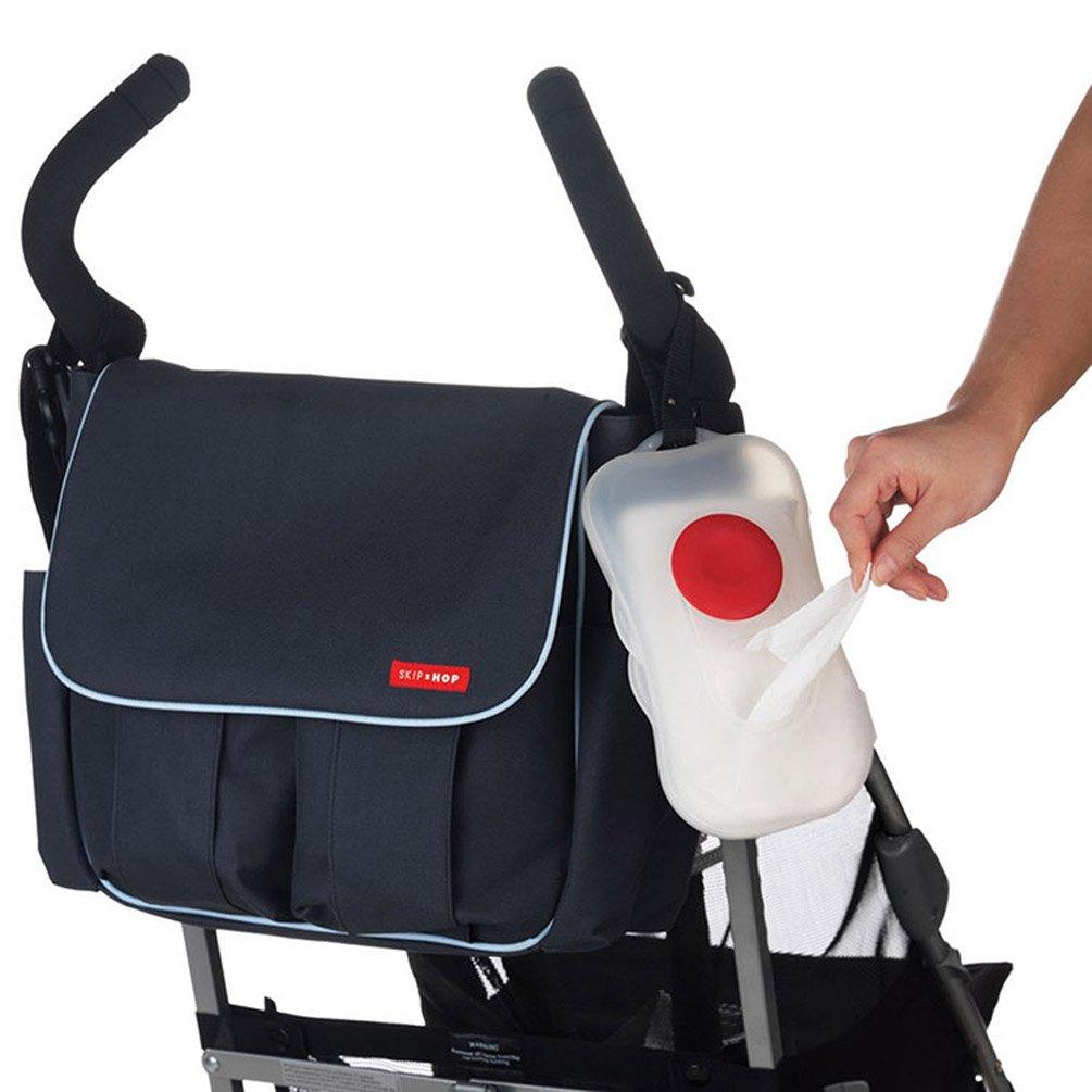 laoo SA Blanco Baby on-the Go Dispensador de toallitas Caja para cochecito, cochecito: Amazon.es: Bebé