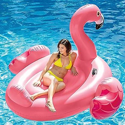 Badeinsel ''Mega Flamingo Island'' mit 2 Haltegriffe, 218x211x136cm 2