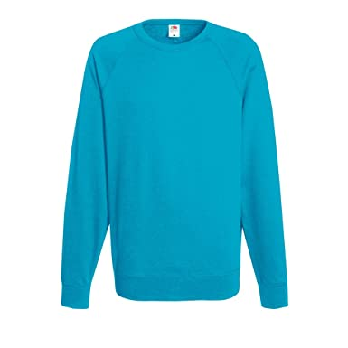 Fruit Of The Loom Mens Lightweight Raglan Sweatshirt