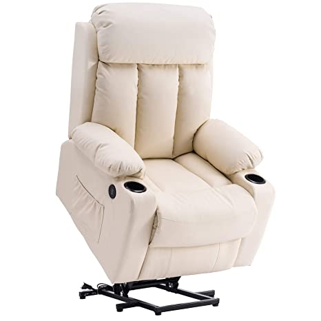 Fantastic Mcombo Oversized Electric Power Lift Recliner Chair Sofa For Elderly Big And Tall People 3 Positions 2 Side Pockets And Cup Holders Usb Ports Faux Machost Co Dining Chair Design Ideas Machostcouk