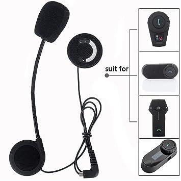 FreedConn Micrófono Altavoz duro cable de los auriculares para el casco de la motocicleta de Bluetooth Interphone del intercomunicador: Amazon.es: Coche y ...