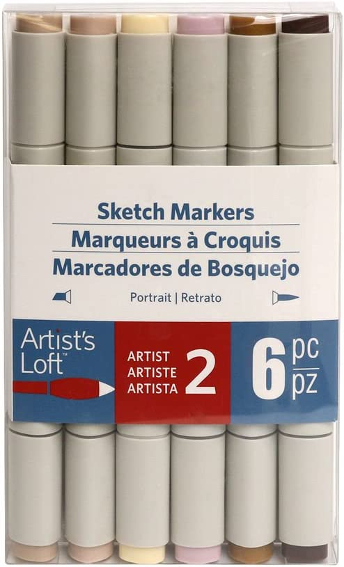 Portrait Sketch Markers by Artist's Loft 6 Piece Set