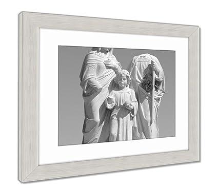 Amazon.com: Ashley Framed Prints Holy Family, Wall Art Home ...
