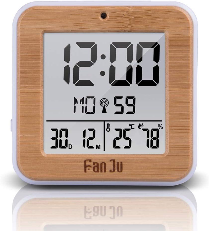 Reloj Despertador 2020 Led Reloj Despertador Digital Termómetro Higrómetro Relojes De Mesa Alarmas Diarias Función Luz De Fondo Automática