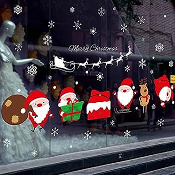 Sworna holiday series sn 55 merry christmas santa claus elk sleigh removable vinyl diy wall window door mural decal sticker for retail store coffee
