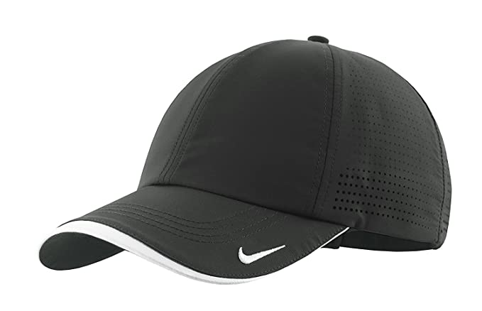 4806b30f27df9 NIKE Authentic Dri-Fit Low Profile Swoosh Embroidered Perforated Baseball  Cap at Amazon Men s Clothing store