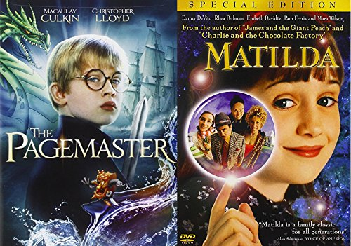 The Pagemaster & Matilda DVD Set Classic Family Fantasy Movie Bundle Double Feature