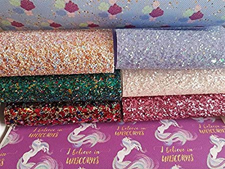Chunky Glitter /& Leatherettes for Bows /& Crafts 8 x A5 Sheets Themed Packs