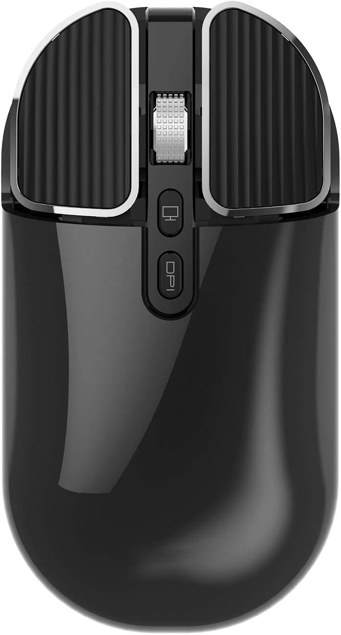 Bluetooth Mouse,reiie RM203 Slim Dual Mode(Bluetooth +USB) 2.4GHz Rechargeable Wireless Bluetooth Mouse for Laptop,ipad,MacBook,PC for Win8/Win10/Mac/Android/IOS 13 Or Above