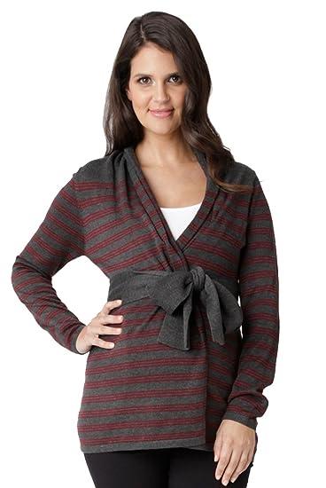 2f8ce3b18 Ripe Maternity Manor Wrap Cardigan Sweater - Coal Plum - Medium at ...