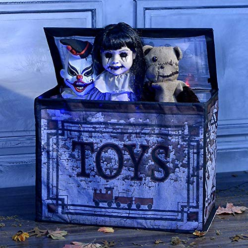 Spirit Halloween Animated Props - Party City Animated Haunted Toy Box,