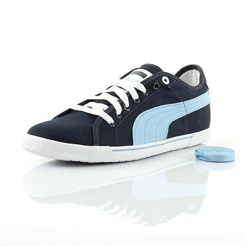 Puma - Zapatillas de Deporte de Lona Hombre, azul (Bleu foncé, bleu ciel et blanc), 41: Amazon.es: Zapatos y complementos