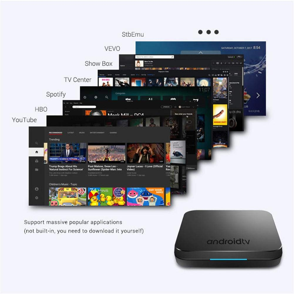 KM9 Android 8.1 TV BOX S905X2 Network Bluetooth Edition Set Top Box 4+32G 4K WIFI by Oshide (Image #6)