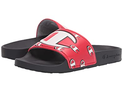 da65a70e2 Amazon.com | Champion Kids Unisex Ipo Repeat C (Little Kid/Big Kid) Red/ Black 5 M US Big Kid | Sandals