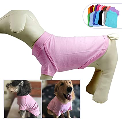 7ada29453eb1c2 2018 Pet Clothing Dog Clothes Blank T-Shirt Tee Shirts for Small Middle  Large Size