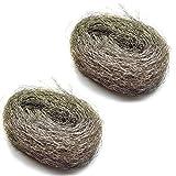 100g Wire Wool Steel Wire Mini Wool Pads For Rust & Fine Sanding (2 Pack) TE359
