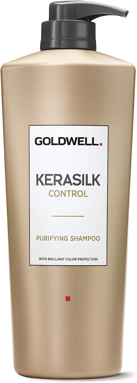 Oro Well Kera–Silk Control Champú con una brillante protezione dei colori, 1er Pack (1x 1l)