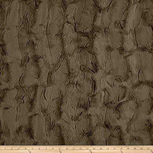(Shannon Fabrics Minky Luxe Cuddle Hide Fabric by The Yard, Truffle)