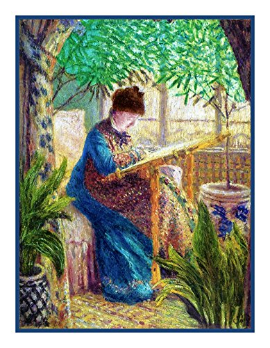 Orenco Originals Camille Embroidering by Claude Monet Counted Cross Stitch Pattern