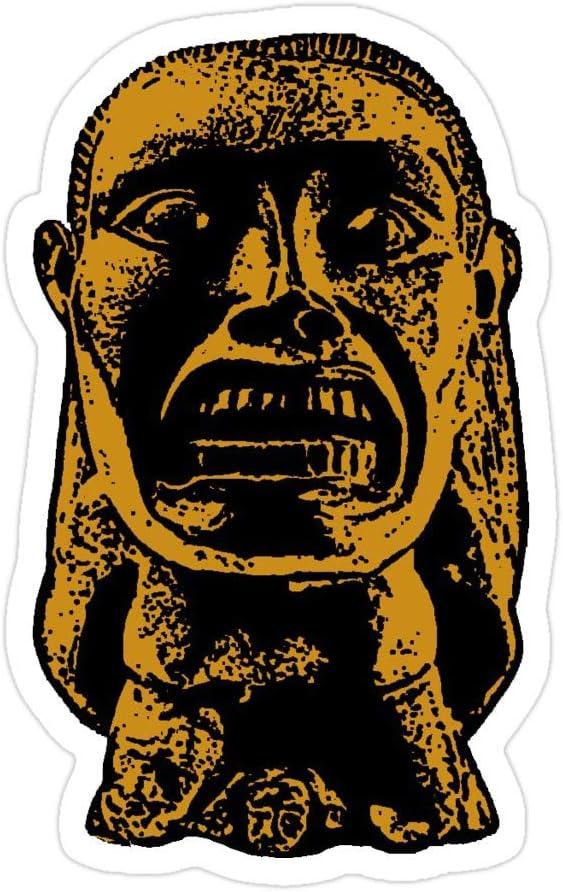 (3 PCs/Pack) Indiana Jones Idol 3x4 Inch Die-Cut Stickers Decals for Laptop Window Car Bumper Helmet Water Bottle