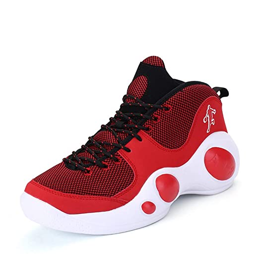 YSZDM Zapatos de Baloncesto Mans, Moda de Alta Ayudar a los ...