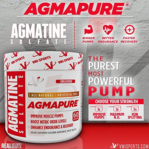 AGMAPURE® Pure AGMATINE SULFATE Better Pumps & Enhanced Endurance Workouts