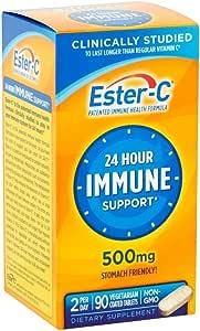 Ester-C 500 mg Coated Tablets 90 ea (Pack of 2)