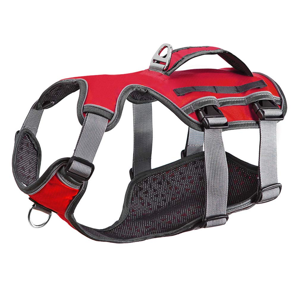 Reflective Dog Harness with Lift Handle Mesh Dog Halter Harness Vest for Medium Large Dogs K9 Hiking Walking Training M L XL Red M by Kuntrona