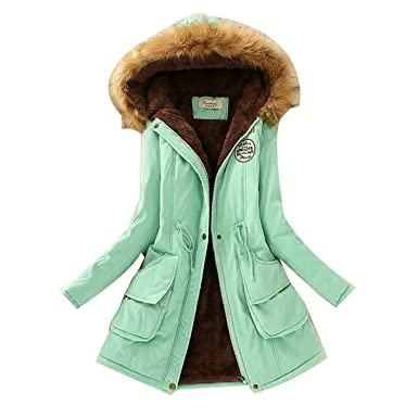 2018 Women Jacket Winter Solid Hooded Coat Casual Outerwear Fur Collar Jackets Chaquetas Mujer,Aqua