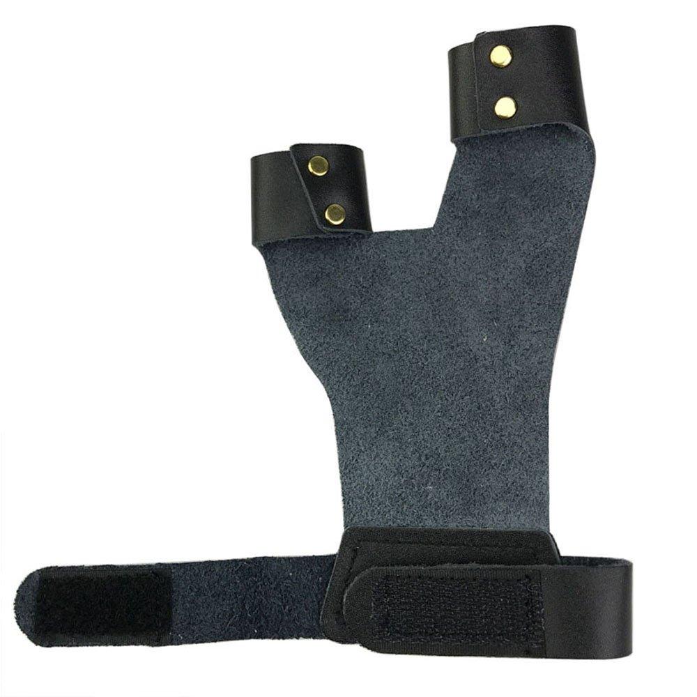 Bogenschie/ßen Handschuhe Link Hand 2 Finger Schutz Anlage Fingerschutz f/ür Jagd