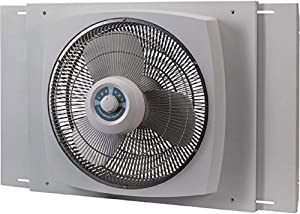 "Lasko 16"" Electrically Reversible Window Fan with Storm Guard, 16900G"