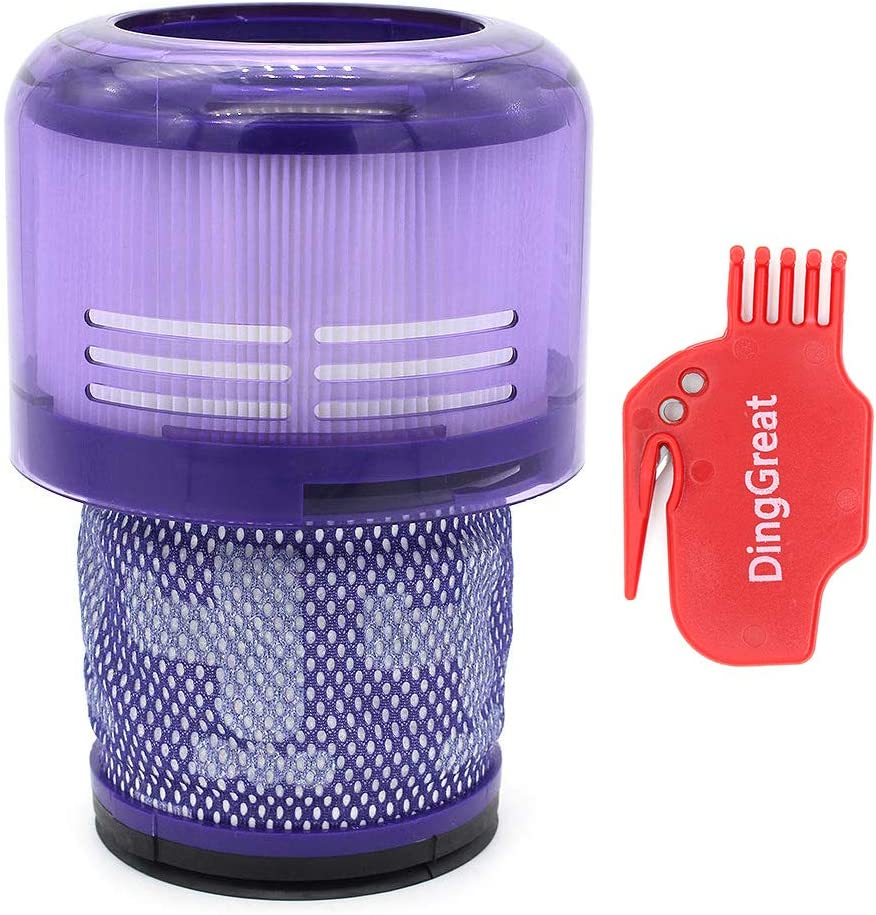 DingGreat Washable Post-Filter Replacement Compatible for Dyson V11 SV14 Cyclone Animal Absolute Total Clean Cordless Vacuum Cleaner, Replace # DY-970013-02 & 97001302